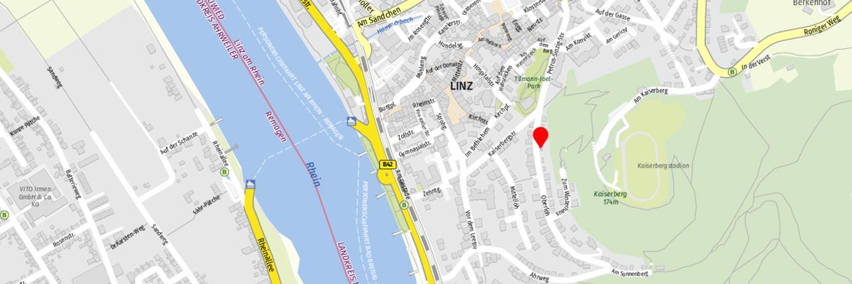 Karte von Linz am Rhein